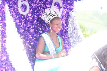 Miss BVI 2014 Jaynene Jno Lewis during the Festival Parade yesterday August 4, 2014. Photo: VINO