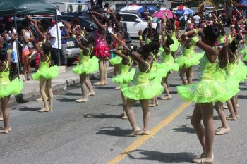 Fete T'Niques Majorettes in action during the parade. Photo: VINO