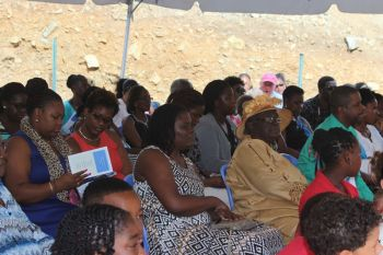 Some of the persons in attendance at the Pelican Gate School's graduation and prize giving ceremony on July 5, 2015. Photo: VINO