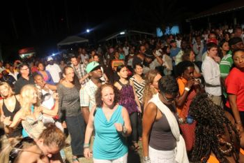 The newly established Bayside Music Park at Mulligan's, Nanny Cay was an ocean of people who did not let the historic moment pass without them being there to celebrate with Third World aka Reggae Ambassadors. Photo: VINO