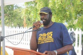 According to Territorial At Large candidate and Chairman of the People's Empowerment Party (PEP), Hon J. Alvin Christopher, this pending amendment has struck great fear in the heart of the people of Anegada and Virgin Gorda, 'because it's based primarily on the industry that they have sustained themselves on for decades.' Photo: VINO/File