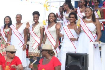 Past Festival Queens and Miss BVIs. Photo: VINO