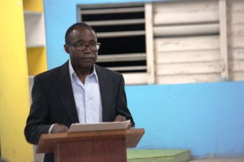 According to Third District Representative and Opposition Member Hon Julian Fraser RA, the National Democratic Party Government lacks decisive leadership and priority, which is why the hurricane recovery process has not been swifter. Photo: VINO