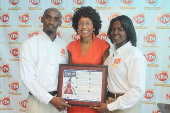 The 'Step it Up' programme was inspired by First Lady Mrs Lorna Smith over a year ago and FTM took on the challenge of impacting youths in a positive way. Photo: VINO