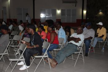 Persons at the meeting called by Dr The Hon Hubert O'Neal (R9) at the Catholic Community Centre in Virgin Gorda on November 9, 2016. Photo: VINO