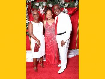 Dr. Vincent G. Scatliffe and Mrs Scatliffe at the 75th birthday celebration of Mrs Patsy C. Lake. Photo: Cecil Alex Jeffrey