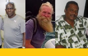 Among those that perished during Hurricane Irma on September 6, 2017 are, from left, Xavier 'Dag' Samuels, Richard A. Benson and Derek Ragnauth. Photo: Facebook/GoFundMe
