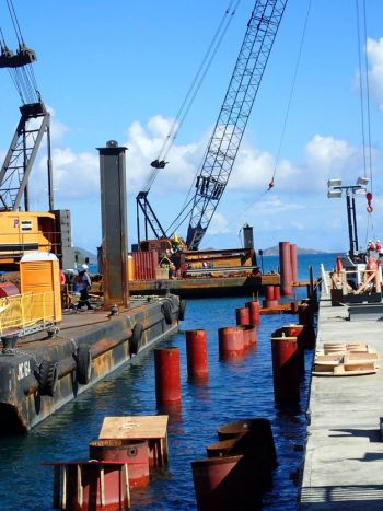 View down north side of Cruise Pier. Photo: IDL Projects & Meridian Construction