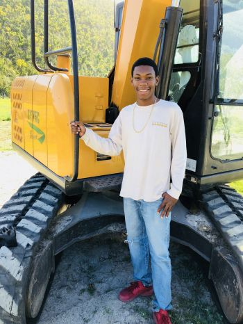 L'rique L. George aspires to one day own his own heavy equipment business in the near future. Photo: Provided