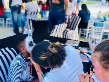 """I would like Happy Faces to become a well-known name that will strive in the party/events market. When people need a face painter I would like to be the first name that comes to mind,"" Ms J'dya A. T. Sprauve told this news website. Photo: Provided"