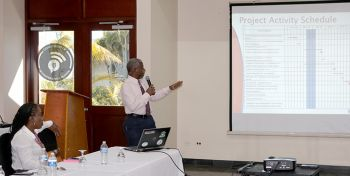 Mr Cassimire said that the purpose of the meetings were to introduce the ICT project, build support, and facilitate feedback from the different stakeholders in the drafting of a plan. Photo: GIS