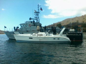 The vessel 'Sun Flower' on which some 894 kilos of cocaine were seized by Venezuelan authorities last week. Photo: www.noticias24.com