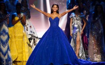 Miss Universe 2015 Pia Alonzo Wurtzbach takes her final walk on stage. Photo: Rolex Dela Pena/EPA
