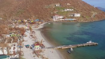 Less than 5% of the residents of Jost van Dyke are with electricity, nearly three months after Hurricane Irma hit the Territory. Photo: ITV.com