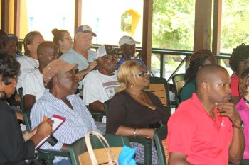 A section of the audience during the stakeholder's meeting held with the BVI Tourist Board at Jost Van Dyke. Photo: VINO