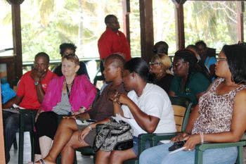 Another section of the audience that attended the meeting at Foxy's Tamarind Bar in Jost Van Dyke. Photo: VINO