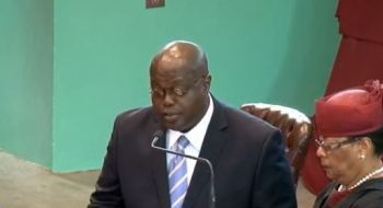 Speaker, Honourable Julian Willock, who has since accepted Mark H. Vanterpool's resignation letter. Photo: VINO/File