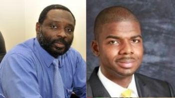 Also selected at the congress were John Samuel (left), former Acting Permanent Secretary in the Ministry of Communications and Works and former Director of the Virgin Islands Shipping Registry, to run in District 6 and VIP President and College Lecturer, Dr Natalio D. Wheatley aka 'Sowande Uhuru' (right) who will contest in district 7. Photo: VINO files.