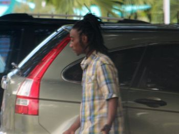 Jovanie Richardson, 20, of Horsepath admitted to choking his then pregnant girlfriend and damaging property on separate occasions last year when he appeared before the Magistrate's Court today, February 4, 2014. Photo: VINO/File