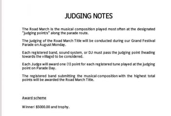 "Our source's allegation was validated by the judging notes which indicated, ""The registered band submitting the musical COMPOSITION with the highest total points will be awarded the Road March title."" Photo: Provided"