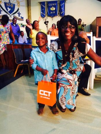 Judith Joseph won a Samsung Galaxy Note 4 from CCT Global Communications. Photo: Provided