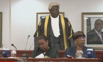 At Monday's June 3, 2019, Fourth Sitting of the First Session of the Fourth HoA, Speaker Julian Willock moved to shut down arguments between Premier and Minister of Finance, Hon Andrew A. Fahie (R1) and the Opposition Leader over the ongoing Immigration reform debacle in the territory and now according to Hon Marlon A. Penn, the scenario is one where the Speaker is trying to silence the Opposition. Photo: VINO