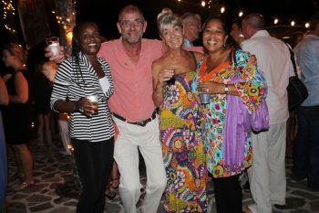 Among those attending was Director of Tourism Ms Sharon Flax-Mars (r) who did not allow a night of good music to go waste. Yes she stole every opportunity to further promote the tourism sector of the Virgin Islands and endorsed the jazz on the Hill Festival as a significant event on the annual calendar. Photo: VINO