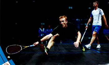 Top qualifying seed Joe Chapman, the 25-year-old from the (British) Virgin Islands, defeated home hope Sam Gould in three, 11-8, 12-10, 11-4 in the opening rounds of qualifying, despite being taken to a tie-break by the man from Boston. Photo: Provided/File