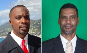 Marvin A. Blyden (Dem.) (left) won the most votes for the Legislature of St. Thomas while Kurt A. Vialet (Dem.) (right) won the most votes for St. Croix. Photo: Internet source