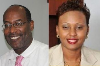 Officials denied that acting Chief Immigration Officer Mr. Guy Hill (left) is going to be replaced by Deputy Secretary in the Premier's Office Geraldine Ritter-Freeman. Photo: Provided/VINO/File
