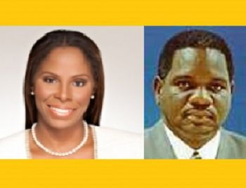 Stacey E. Plaskett (Dem.) (left) won the most votes for Delegate to the US House of Representatives. Almando 'Rocky' Liburd (Ind.) (right) won the most votes for Senator At Large. Photo: Internet source