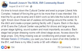 The discussion on the Sir Rupert Briercliffe Hall was raised on August 20, 2019 by a Russell Jones, who was of the view it is time for the 'Cultural Center' to be knocked down and replaced with a Liberal Arts Complex. Photo: Facebook
