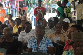Some of the participants of the Farmers' Week activity in Jost Van Dyke today February 5, 2013. Photo: VINO