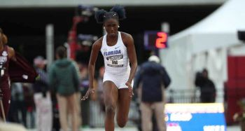 Kala Penn finished 5th in the Women's Triple Jump Final at the SEC Outdoor Championships in Fayetteville, Arkansas, on Saturday May 11, 2019. Photo: Facebook