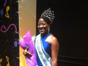 Proud winner of the Miss Teen BVI Scholarship Pageant 2012, Ms Kamyce Penn. Photo: Reuben Stoby/VINO