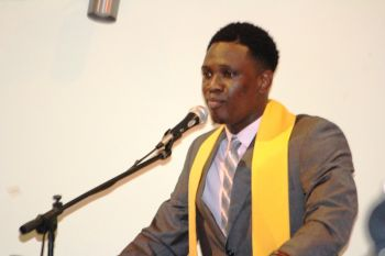Guest Speaker at the FLPS Exiting Ceremony, Kevon S. Lettsome. Photo: VINO