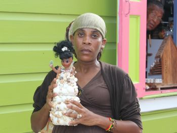 Daniel, who operates a booth at the Crafts Alive Village and has been in the business of craft making for over a decade, told Virgin Islands News Online that the dolls were made in a very short space of time from recycled material. Photo: VINO/File