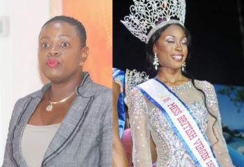 Left: Chairwoman of the Virgin Islands Festival & Fairs Committee (VIF&FC) Kishma A. Baronville. Right: Miss BVI 2015/16 Adorya R. Baly. Photo: VINO/File