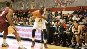 Norville S. Carey netted 11 points and pulled eight rebounds but Rider University lost to Canisius on Friday February 17, 2017 at Alumni Gymnasium. Photo: Rider Athletics/File