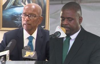 An opinion poll conducted by the Barbados based Caribbean Development Research Service Inc., (CADRES) has showed that Premier and Minister of Finance Dr The Honourable D. Orlando Smith (AL), left, is in a statistical dead heat with Leader of the Opposition and Chairman of the Virgin Islands Party Hon Andrew A. Fahie (R1), right, as the Territory's preferred Leader. Photo: VINO/File