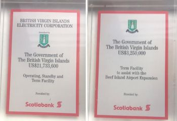 Two term loans that were facilitated by Scotiabank BVI to the Government of the Virgin Islands during the late Mr Terry C. Bell's tenure at the helm of the bank. Photo: Team of Reporters