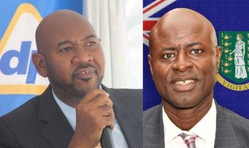 From left: Regional General Manager of Delta Petroleum Bevis A. Sylvester and Attorney General Baba Aziz. A broke NDP Government may now have to pay as high as $60M in claims as well as legal fees for losing their case against Delta Petroleum at the Privy Council. Photo: VINO/GIS