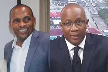 Former Managing Director of the BVI Ports Authority (BVIPA), Claude O. Skelton-Cline has a lawsuit pending against Government. Right: Minister for Communications and Works Hon Mark H. Vanterpool (R4), who had allegedly promised Mr Skelton-Cline his contract would be renewed after the 2015 snap elections. Photo: VINO/File