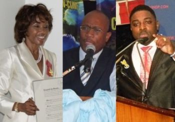 Left to right: Mrs Lorna Smith, the wife of current Premier and Minister of Finance Dr. The Hon. D. Orlando Smith was awarded a consultancy contract with her company LGS and Associate. Also, Claude Skelton-Cline who ran and lost against Second District Representative Hon. J. Alvin Christopher was hired as a government consultant following the 2011 elections and was then appointed as Managing Director of the BVI Ports Authority. Kevin C. Smith was also hired as a government consultant after he was defeated by Third District Representative Hon. Julian Fraser RA, and then appointed to the Trade Department. Photo: VINO/File