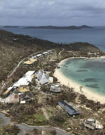 Rosewood Little Dix Bay Resort in Virgin Gorda was severely impacted by the hurricanes of September 2017 and is now expected to re-open sometime in 2019. Photo: Guillermo Houwer/AP