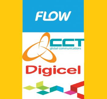 The three cellular service and internet service providers in the Virgin Islands are (top to bottom): Flow, CCT Global Communications and Digicel. Photo: VINO/File