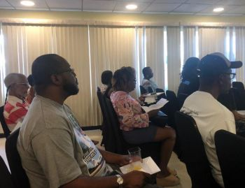 Hodge-Smith unveiled her platform for the Fourth District on Sunday, January 27, 2019, in front of a packed house at a Village Cay Hotel and Marina Conference Room. Photo: Team of Reporters