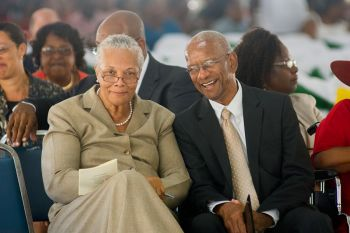 Deputy Governor V. Inez Archibald with Premier and Minister of Finance Dr the Honourable D Orlando Smith. Photo: ishootbvi