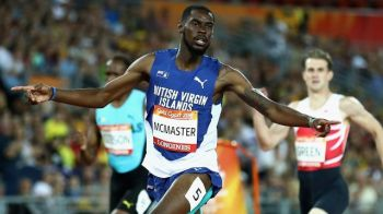 Eldred Henry's performances stamp him as second only to hurdler Kyron A. McMaster (in photo) among Virgin Islands' male athletes in terms of international ranking. Photo: Internet Source