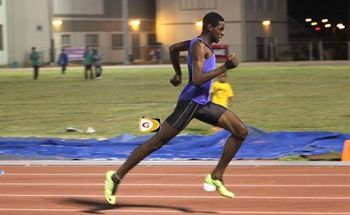 Kyron McMaster won the 400m in 47.95 seconds. The freshman ran 48.59 to win his heat with the second fastest time of the prelims. He anchored the 4x400m Relay to a fifth place finish in 3:16.97, helping Central Arizona to place third with 72 points. Photo: Dean 'The Sportsman' Greenaway/File